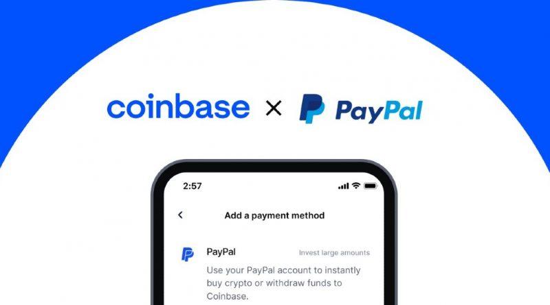 Coinbase ahora permite pagar con PayPal