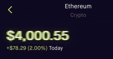 Ethereum (ETH) supera los 4.000 dólares de cotización