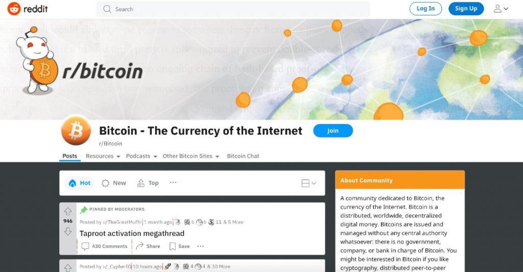 Foro de Reddit sobre Bitcoin (BTC)