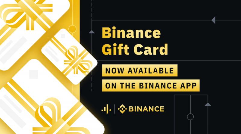 Tarjetas regalo en Binance