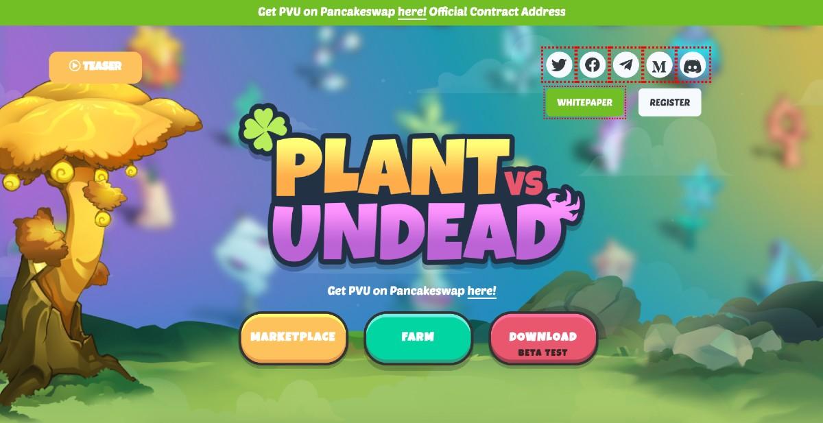 Web oficial de Plant vs Undead