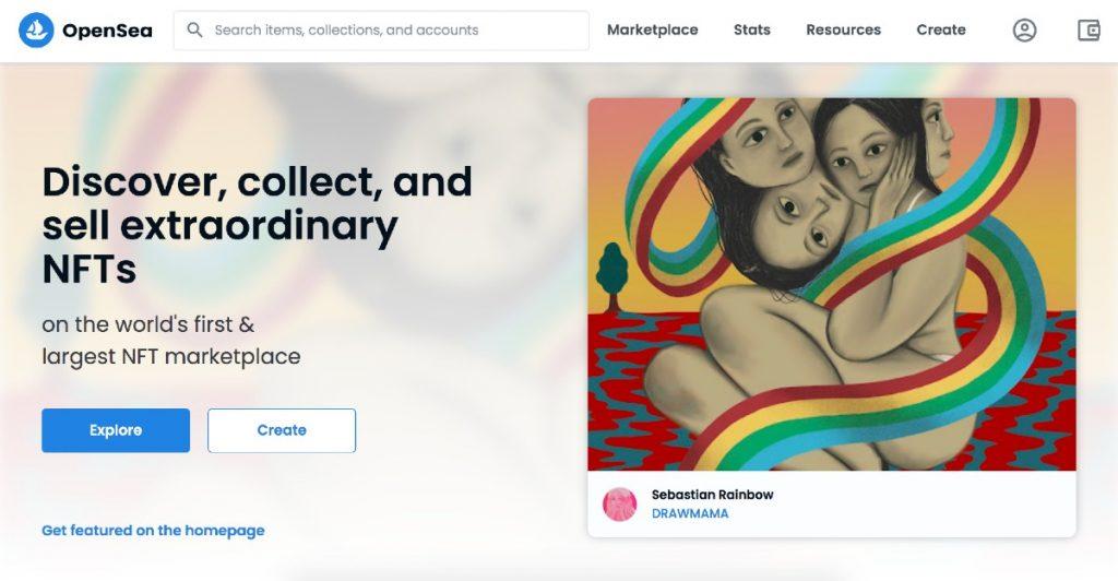 Página web de OpenSea